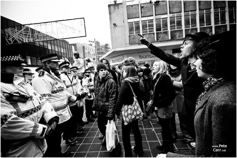 BNP and Anti-BNP demos in Liverpool