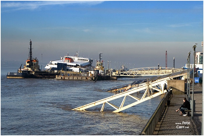 We have a half sunk ferry terminal and now a half sunken ferry