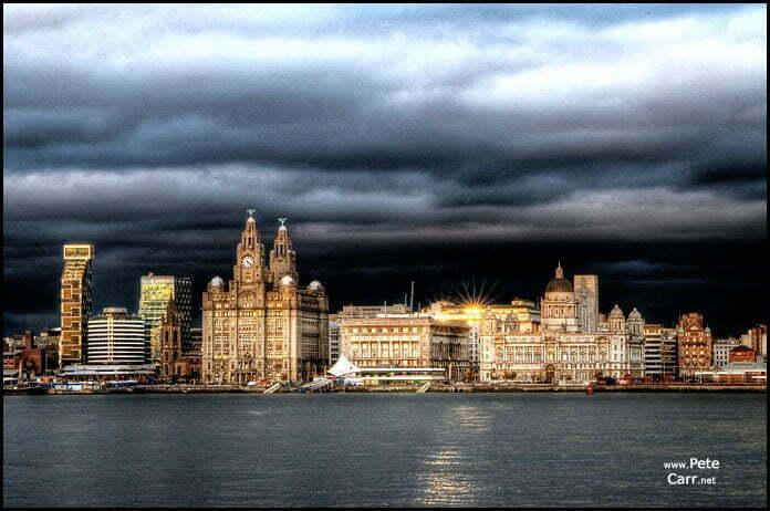 Dark and stormy skyline