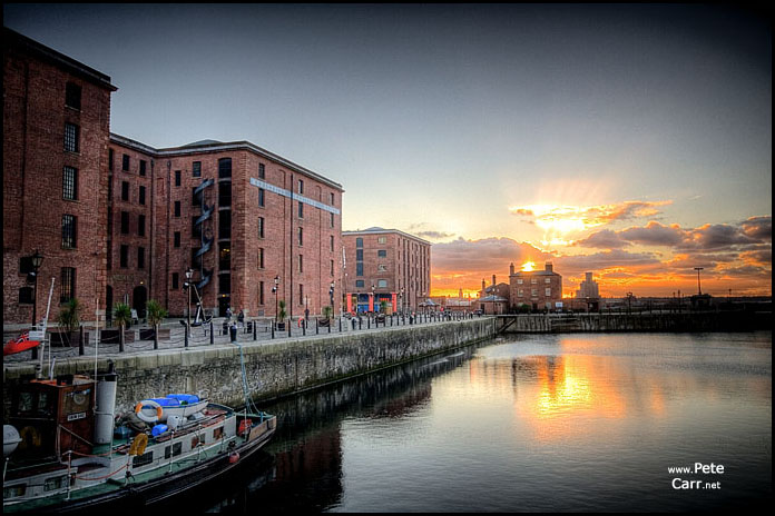 Albert Docks Sunset