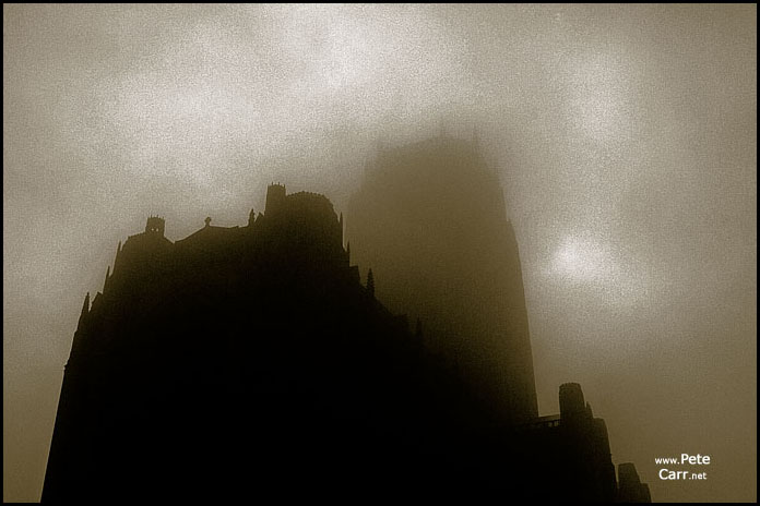 The Anglican Cathedral in fog