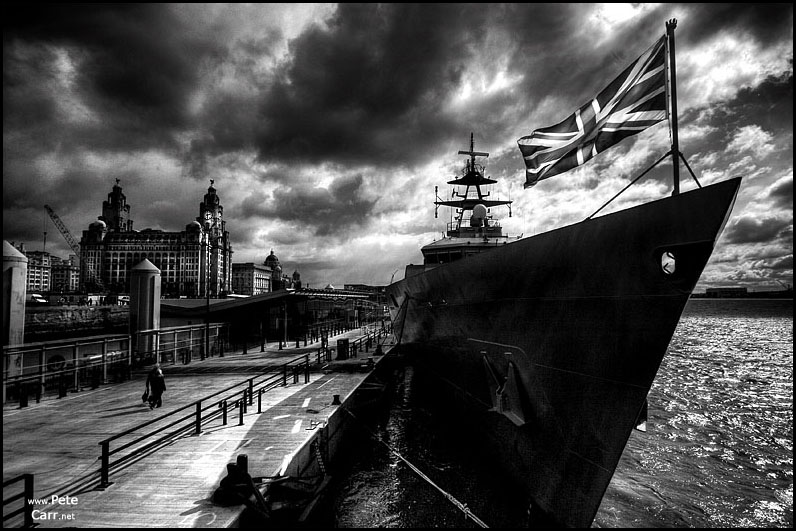HMS Mersey in Liverpool