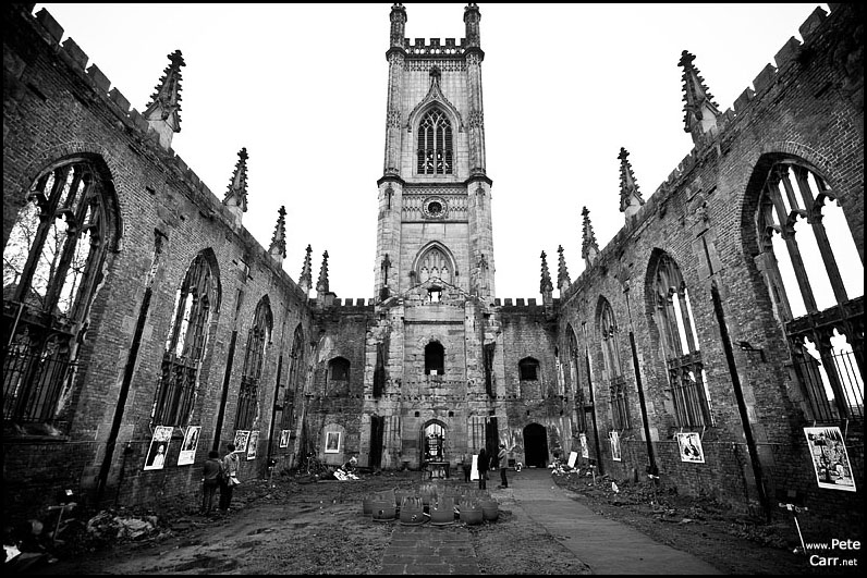 Inside St Lukes - The bombed out church