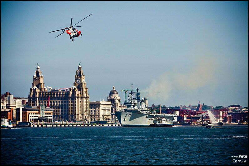 HMS Ark Royal Leaving Liverpool