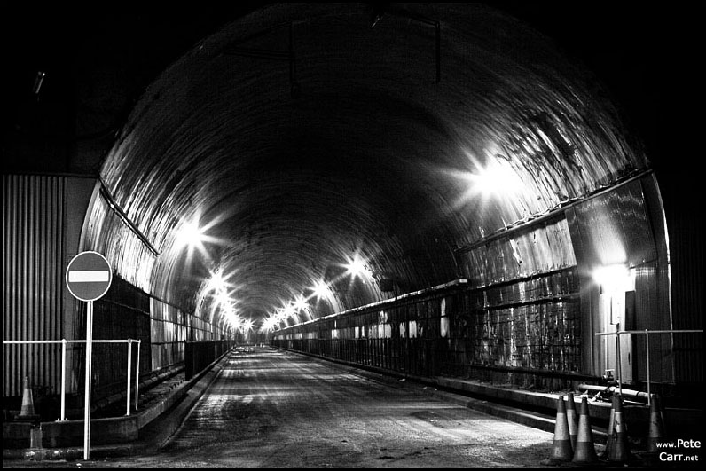Disused Mersey Tunnel road