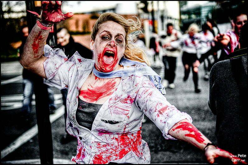 Zombie Flashmob in Liverpool