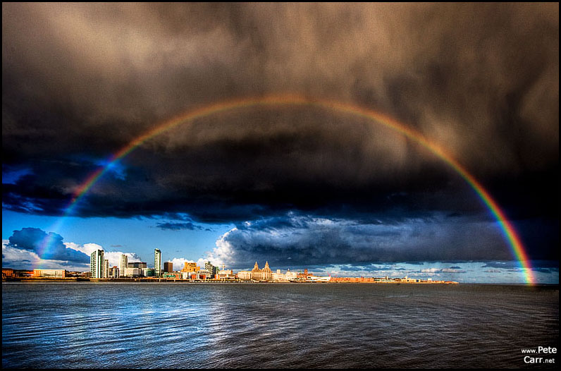 Rainbow over Liverpool
