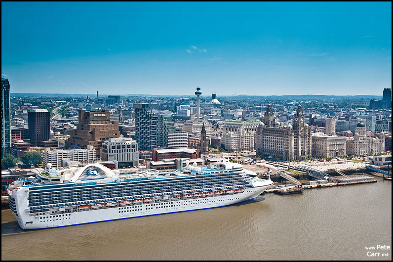 Crown Princess in Liverpool