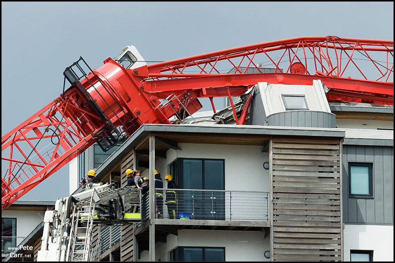 Liverpool crane collapse at Chandlers Warf