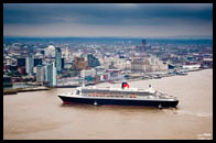 Queen Mary 2 from the air