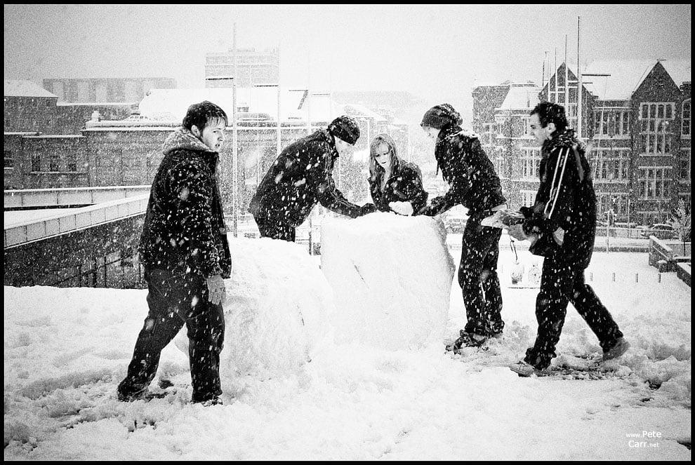 Building a snow man