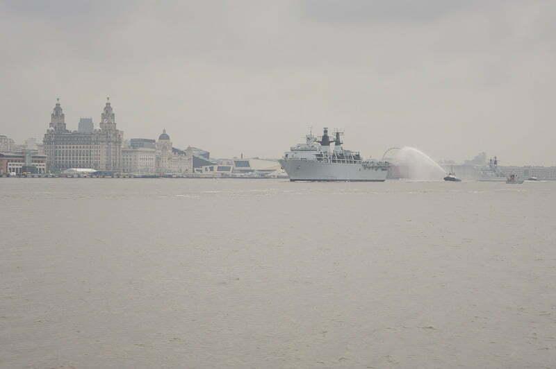 Battle of the Atlantic 70th Anniversary fleet leaves Liverpool