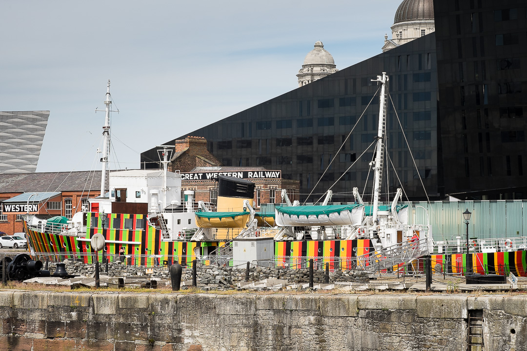 Liverpool Biennial dazzle ship