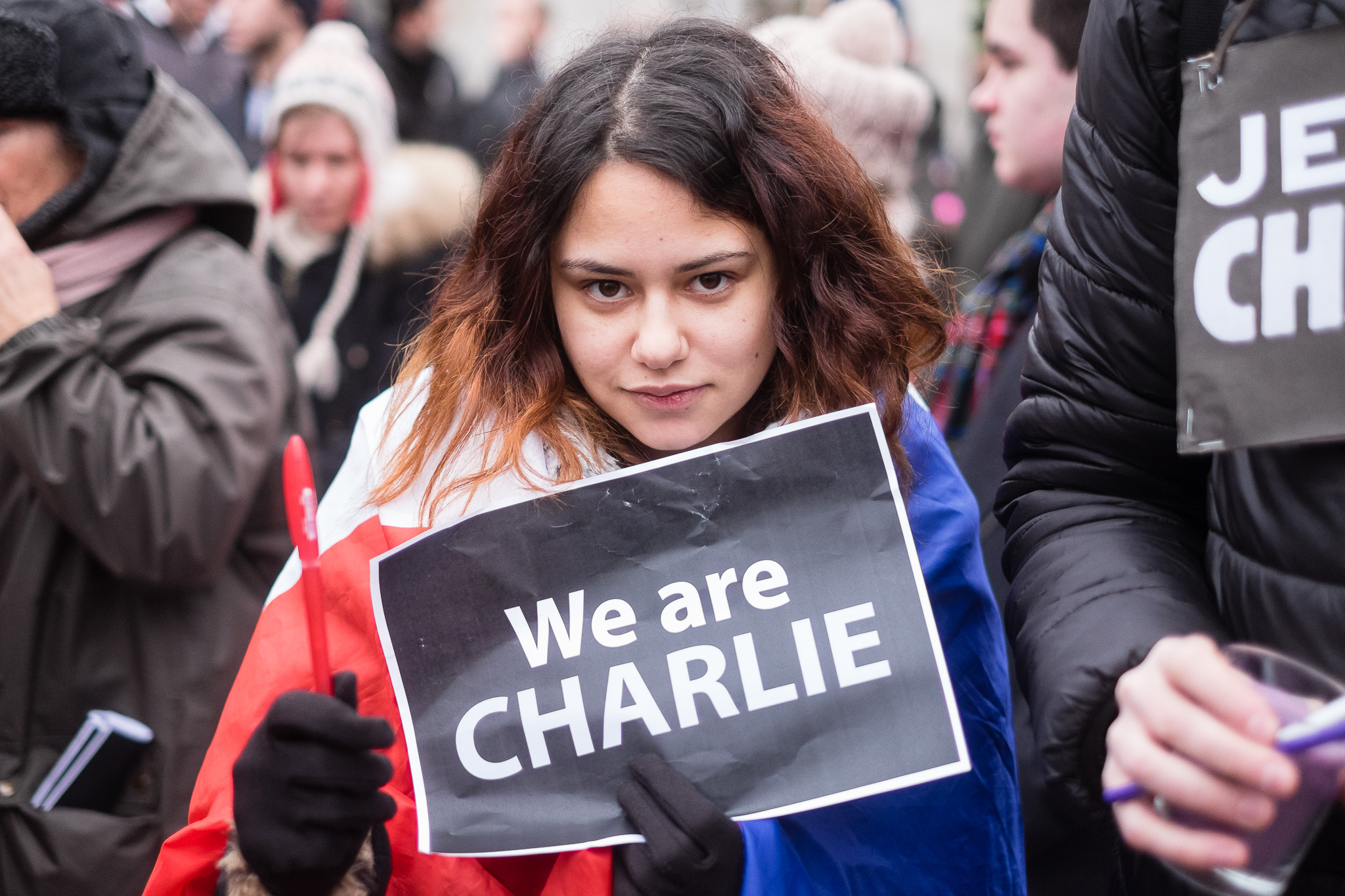Je suis Charlie rally in Liverpool