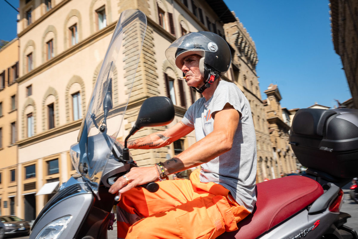 Bikers in Florence